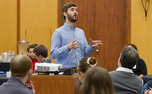 Kevin Green teaching at Dickinson