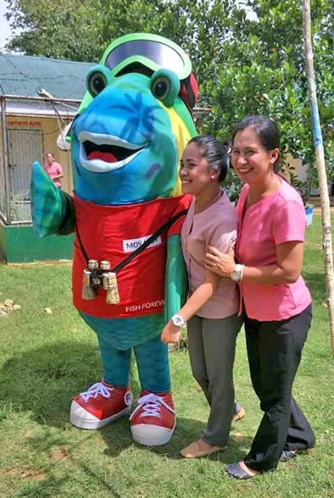 mascot from Gina's pride campaign