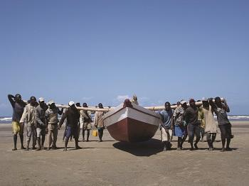 Boat on shores of Mozambique