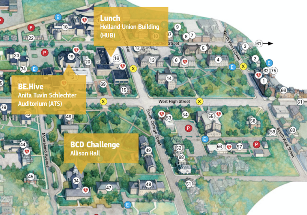 BE.Hive on Campus 2019 - Dickinson College map