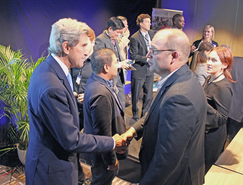 Steve Box with John Kerry