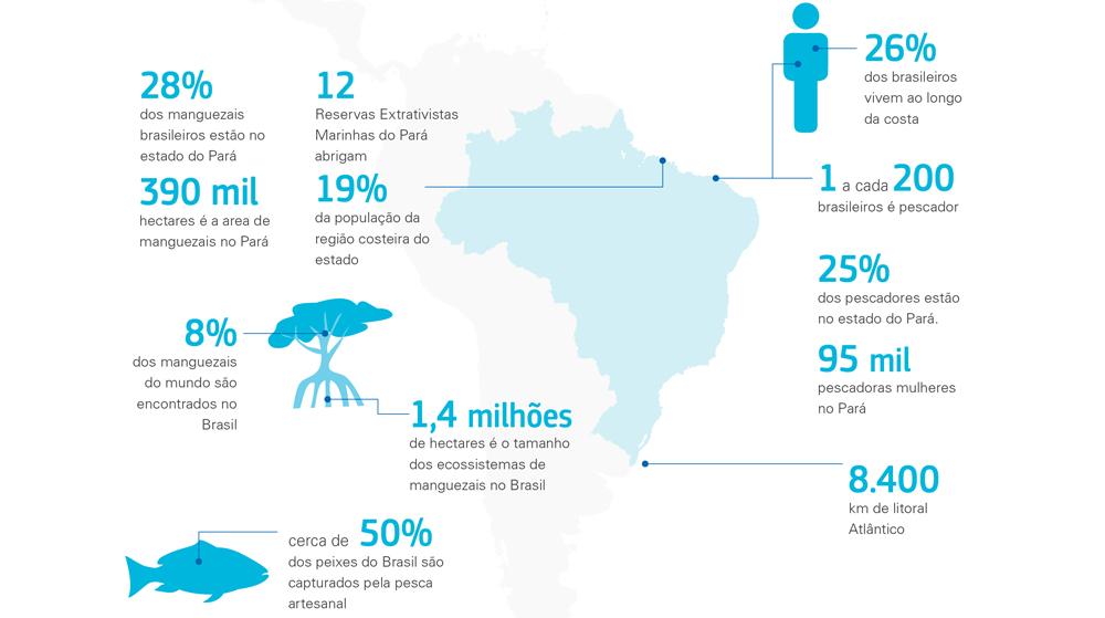 Brasil map - in Portuguese.