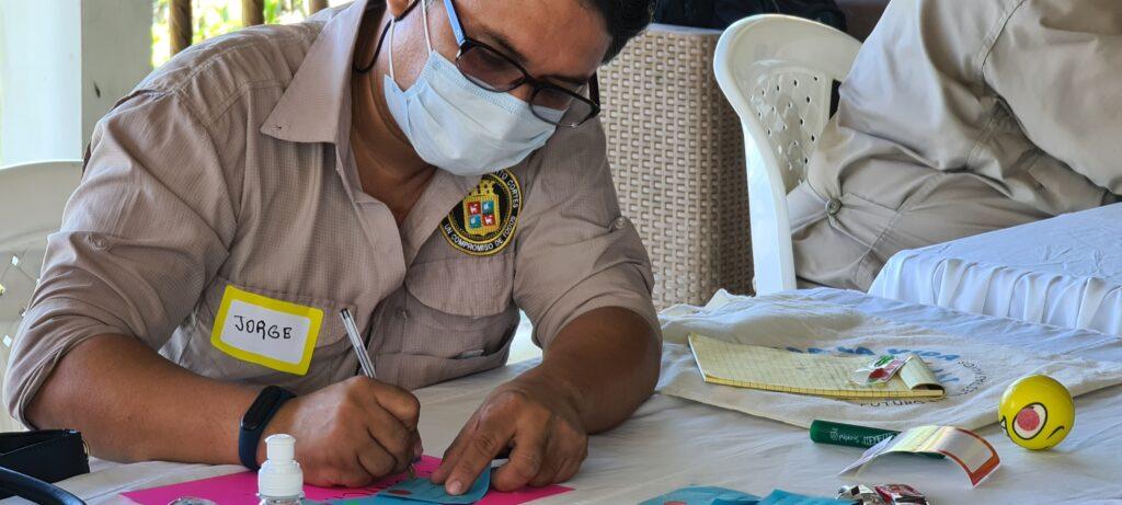 A municipal employee brainstorms strategies to pursue a