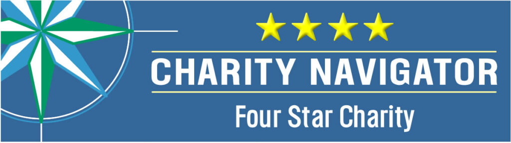 Charity Navigator - 4 star rating.