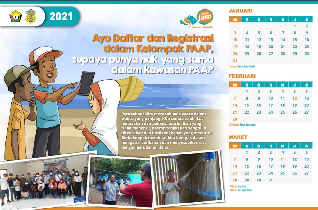 Indonesian calendar.