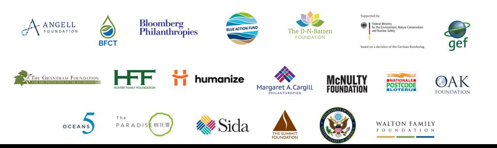 Fish Forever program funder logos.