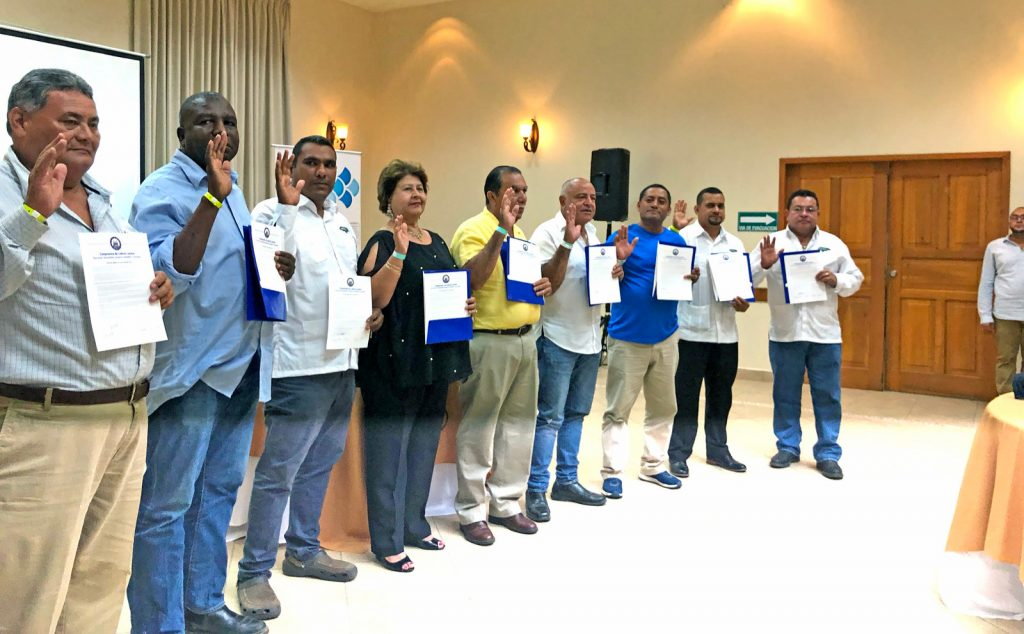 Mayors in Honduras with pledges.