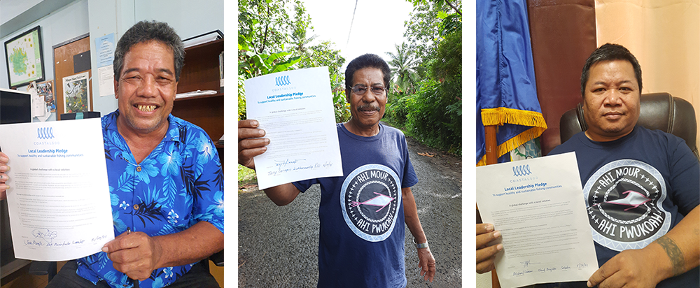3 mayors their respective MOUs to partner with and support Rare and the Micronesia Conservation Trust through Fish Forever