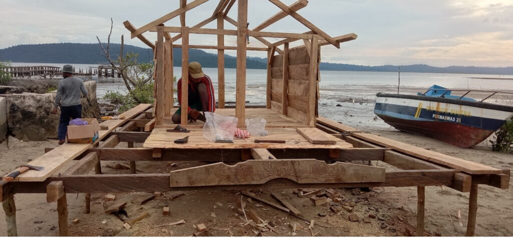 Using a small grant to build a guard house.