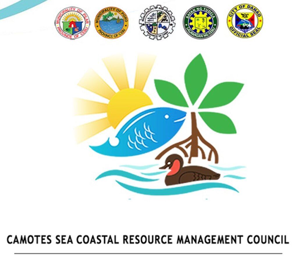 Camotes Sea Coastal Resource Management Council logos.