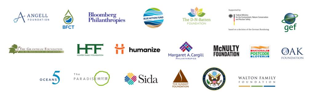 Fish Forever funder logos.